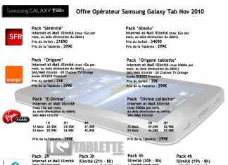 Galaxy Tab de Samsung : les prix des opérateurs dévoilés 2