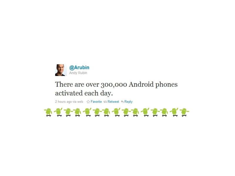Google Android : 300 000 activations de l'OS par jour !