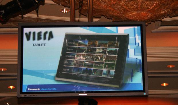 Tablette Panasonic Vieira dévoilée au CES 2011