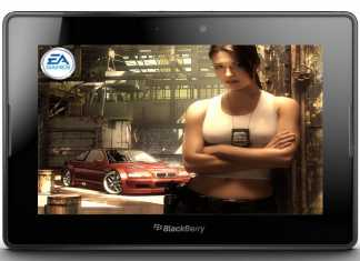 La tablette BlackBerry PlayBook livrée avec les jeux Tetris et Need For Speed