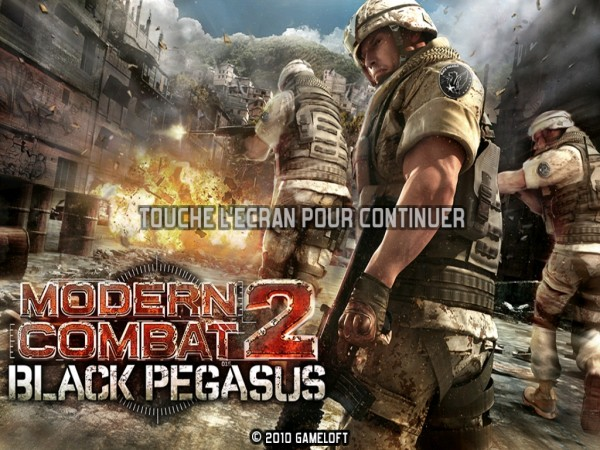 modern combat 2 black pegasus hd  le  u0026quot call of duty u0026quot  pour ipad
