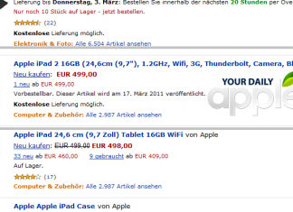 Tablette iPad 2 : les caractéristiques techniques dévoilées par erreur ?