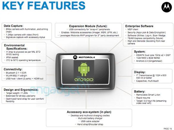 Une tablette professionnelle en préparation chez Motorola ?