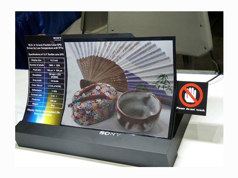 Papier électronique : Sony à la pointe de la recherche pour l'écran flexible 2
