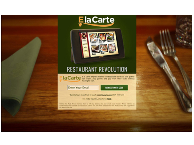Les tablettes tactiles bientôt dans les restaurants 2