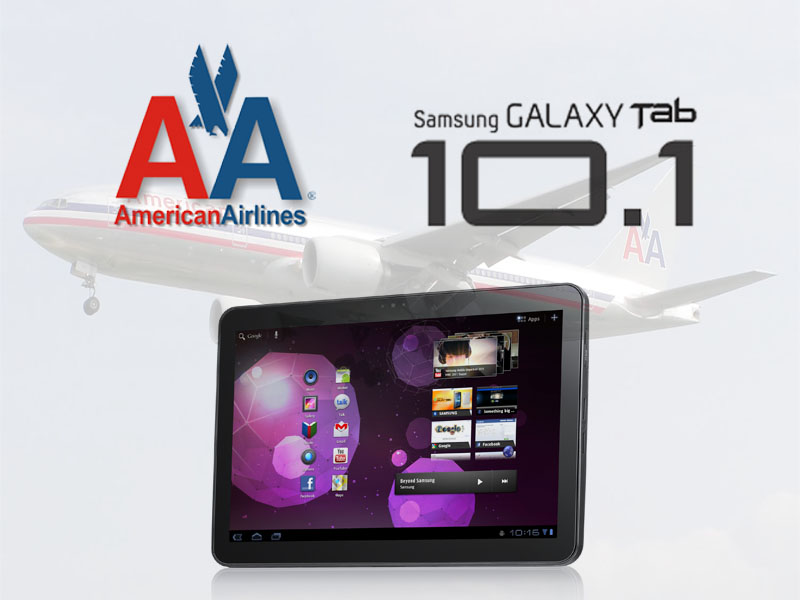 Des tablettes Samsung Galaxy Tab 10.1 pour American Airlines