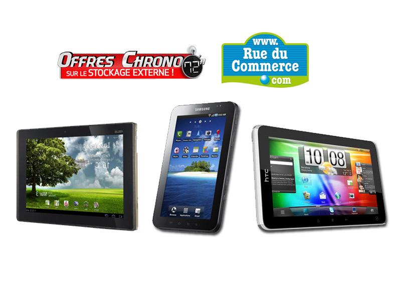 Vente Flash Rue Du Commerce : HTC Flyer, Asus Transformer et Samsung Galaxy Tab à prix réduit 1
