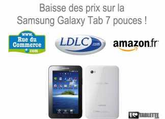 La Samsung Galaxy Tad 7 pouces en promo !