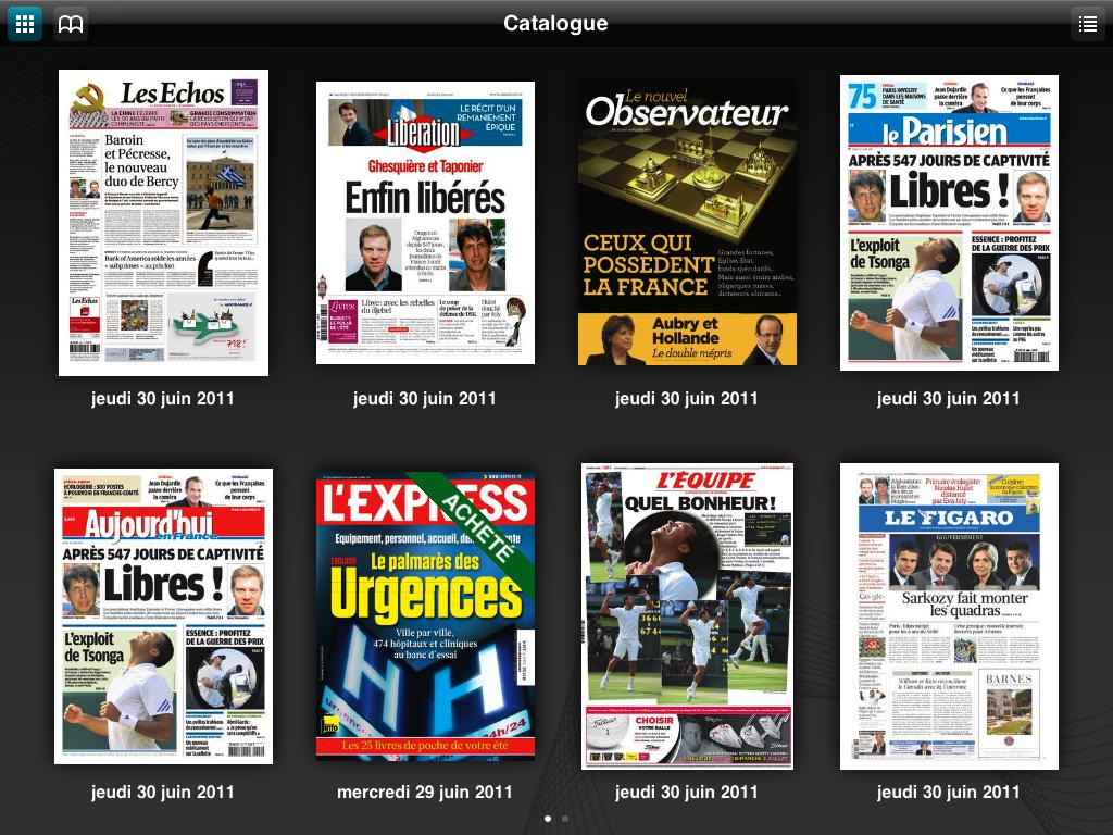 ePresse sur iPad & iPhone : La presse française s'associe et lance son kiosque numérique 6