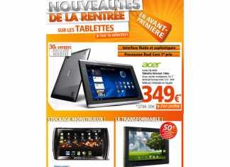 Les tablettes tactiles Acer Iconia Tab A500 et Asus Eee Pad Transformer en promo chez RueduCommerce 2