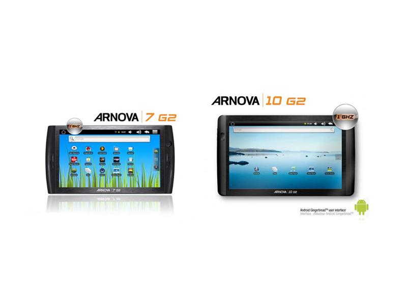 Arnova lance 2 nouvelles tablettes tactiles : la Arnova 7 et 10 Génération 2