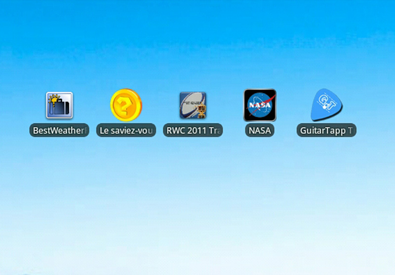 Top 5 des applications gratuites Android Août 2011