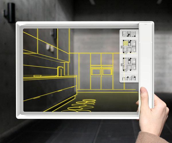 Fujitsu IRIS : Quatre designers imaginent une tablette parfaite avec un écran OLED transparent
