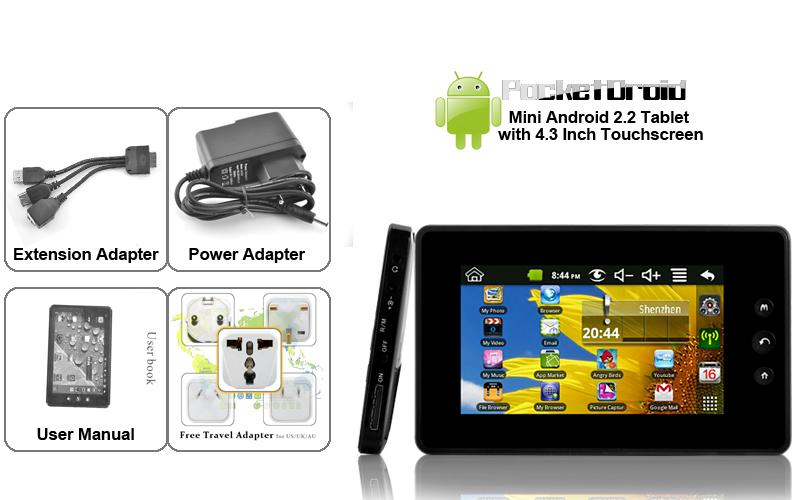 PocketDroid : Une tablette Android de 4,3 pouces à seulement 44 euros ?