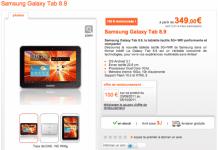Forfait Samsung Galaxy Tab 8.9 : abonnement disponible avec Orange