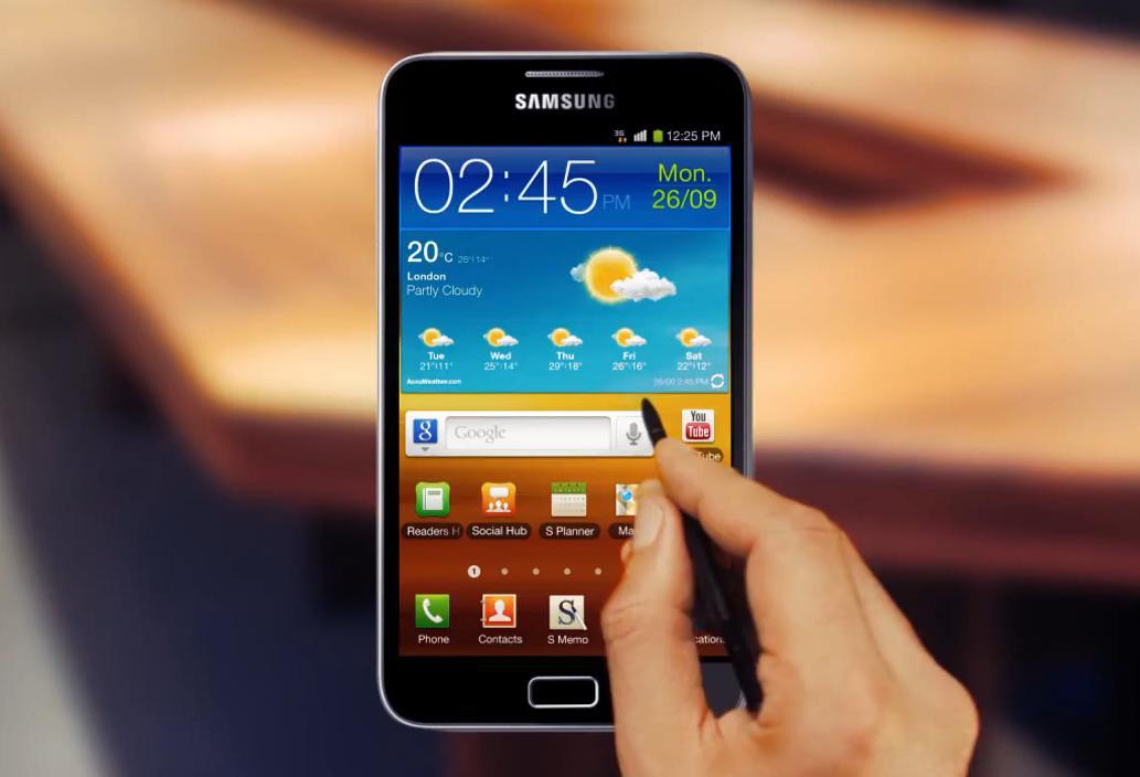 Samsung Galaxy Note : tablette et smartphone avec un écran Super AMOLED
