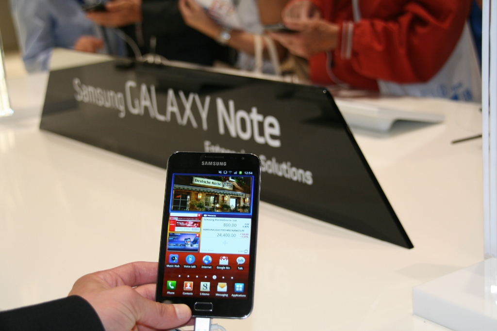 Samsung Galaxy Note : prise en main de la tablette-smartphone au salon de l'IFA 2011 7