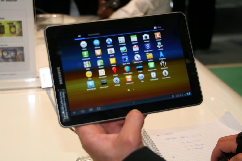 Samsung Galaxy Tab 7.7 : Démonstration vidéo au salon de l'IFA 2011