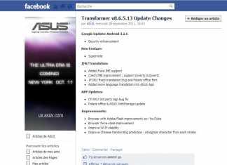 Asus Eee Pad transformer : Une nouvelle mise à jour arrive demain