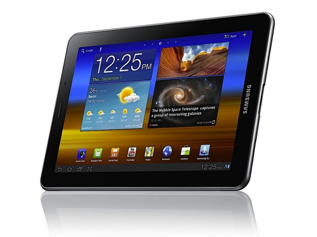 samsung galaxy tab 7 7 samsung d voile sa nouvelle tablette avec un cran super amoled plus. Black Bedroom Furniture Sets. Home Design Ideas