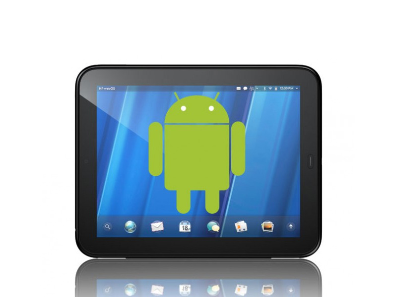 HP TouchPad : Une application pour lancer Android