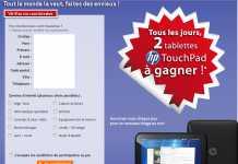 RueDuCommerce met en jeu 100 tablettes HP Touchpad 32 Go