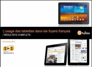 Tablette tactile en France : étude sur l'usage des tablettes dans les foyers Français