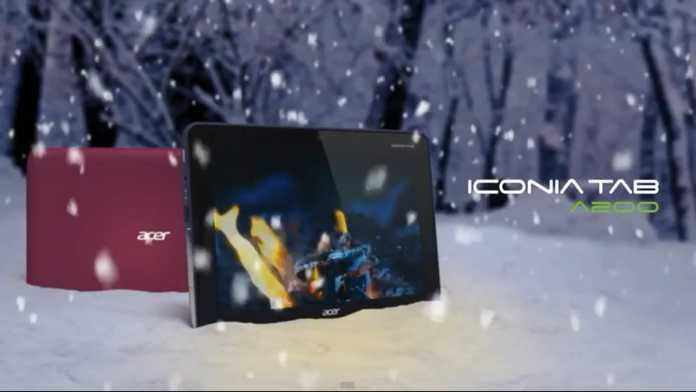 Acer Iconia Tab A200 : publicité officielle de la nouvelle tablette Acer A200 1