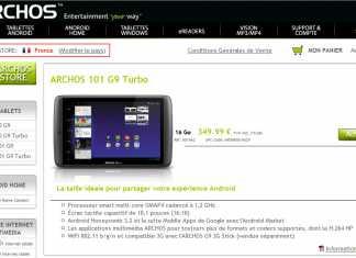 Archos 101 G9 Turbo disponible à l'achat sur la store Archos 1