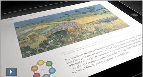 """Sortie de l'application iPad """"Le rêve de Van Gogh"""", réalisé avec la technologie Adobe Digital Publishing Suite 1"""