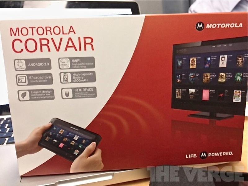 Motorola Corvair : tablette tactile et télécommande universelle de la Google TV ?