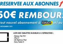 Offre Tablette Tactile Canal + : jusqu'à 250€ remboursés sur une tablette 2