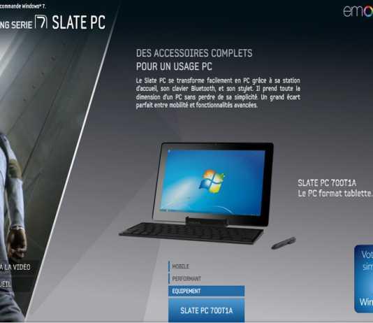 """Tablette PC Samsung Slate PC 700T1A : un teaser vidéo pour le """"PC format tablette"""""""