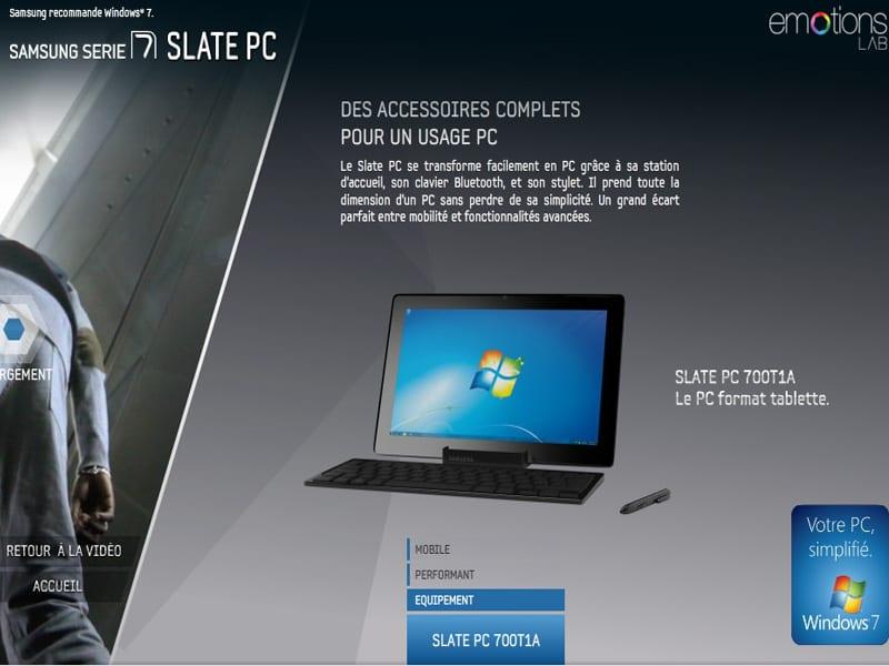 Tablette PC Samsung Slate PC 700T1A : un teaser vidéo pour le «PC format tablette»