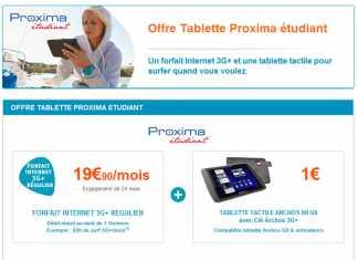 Offre étudiante Archos : Disponible sur le site de Bouygues telecom 1