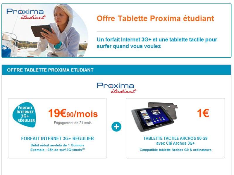Offre étudiante Archos : Disponible sur le site de Bouygues telecom
