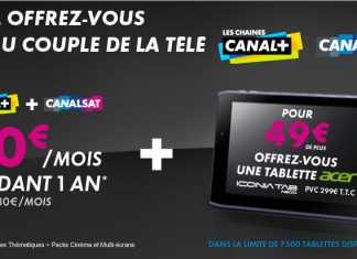 Abonnement Canal+ Canalsat/Tablette : 7 500 tablettes Acer Iconia Tab A100 à 49€ ! 1