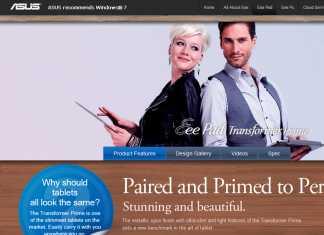Asus Transformer Prime : lancement d'un site dédié en HTML 5 2