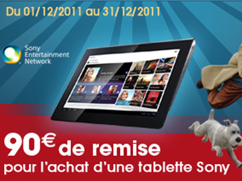 Promos Tablettes tactiles Sony S & P : 90€ de remise immédiate