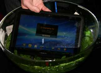Fujitsu Arrows : une tablette tactile Android 100% Waterproof au CES 1