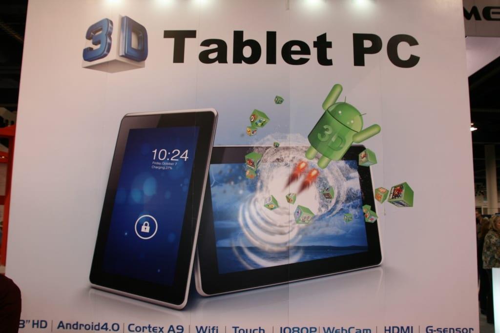 CES 2012 : Gadmei T863 et E-3D, de la 3D sur tablette sans lunette ?