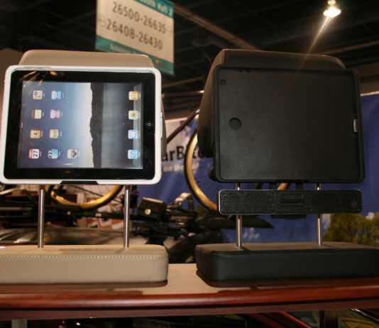 CES 2012 : Incarbite Car Mount,support voiture et speaker portable pour iPad 2 1