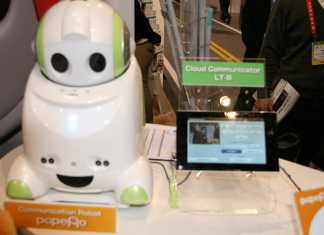 CES 2012 NEC : PaPeRo robot cloud computing 1