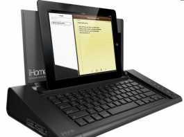 CES 2012 : Accessoire iHome IDM5, un dock / clavier pour tablette tactile avec port USB 1