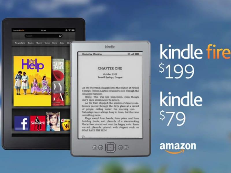 La liseuse Kindle et la tablette Kindle Fire d'Amazon raillent l'iPad d'Apple dans une publicité