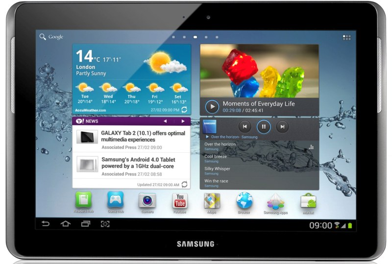 Samsung annonce la tablette galaxy tab 2 10 1 pouces sous - Prix de tablette samsung ...