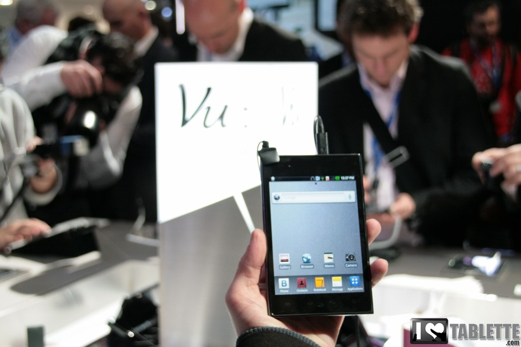LG Optimus VU : Démonstration du Optimus VU au MWC 1