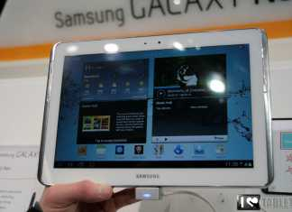 Samsung Galaxy Note 10.1 : Démonstration du Galaxy Note 10.1 au MWC 5