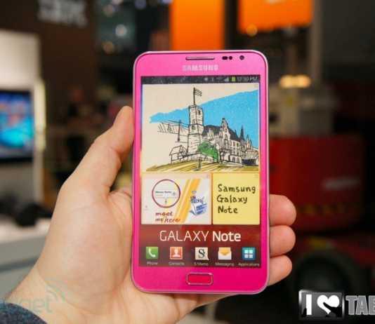 Samsung Galaxy Note Rose : une nouvelle couleur pour le Galaxy Note 1