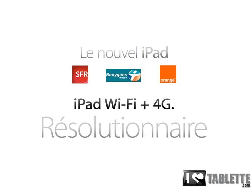 Abonnement Nouvel iPad WiFi + 4G : Comparer les prix des Forfaits du Nouvel iPad 3